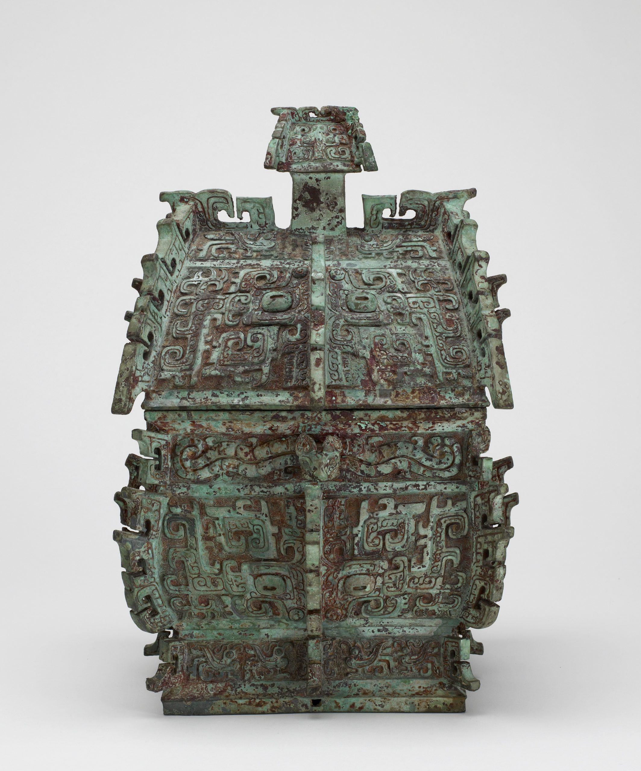 decorative metalwork vessel for wine