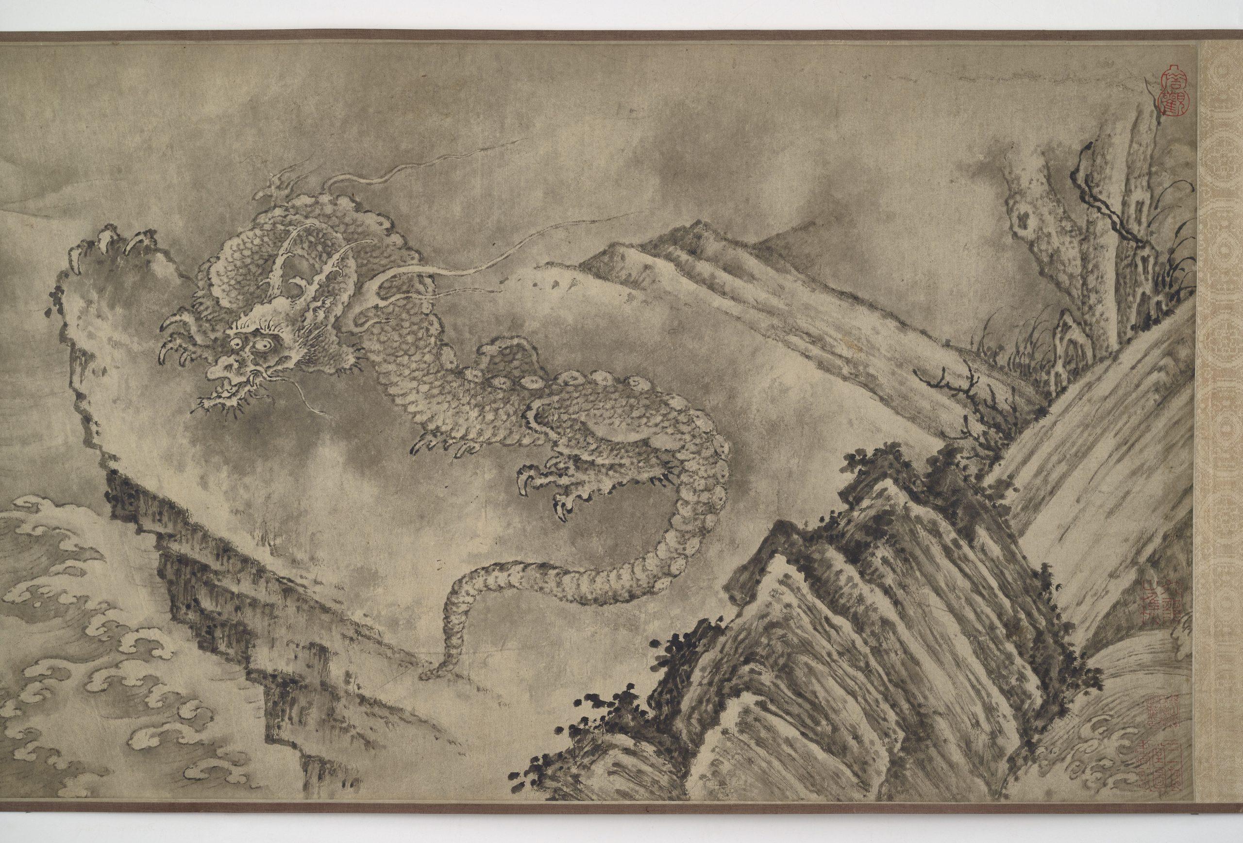 dragon in a mountainous landscape