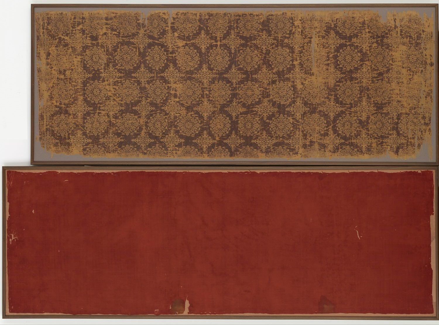 red silk with gold patterning